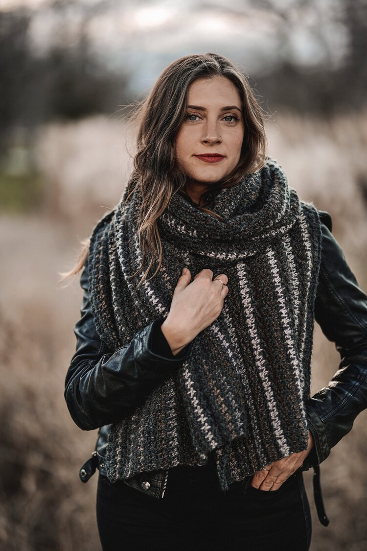 Bernard Houndstooth Scarf pattern by Two of Wands