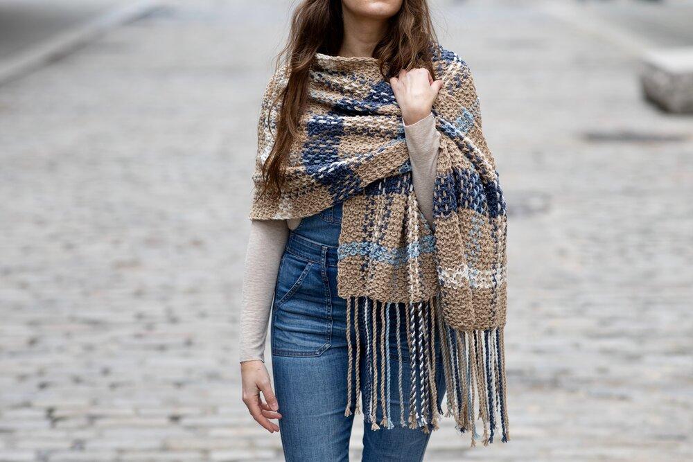 Waterbury Plaid Blanket Scarf