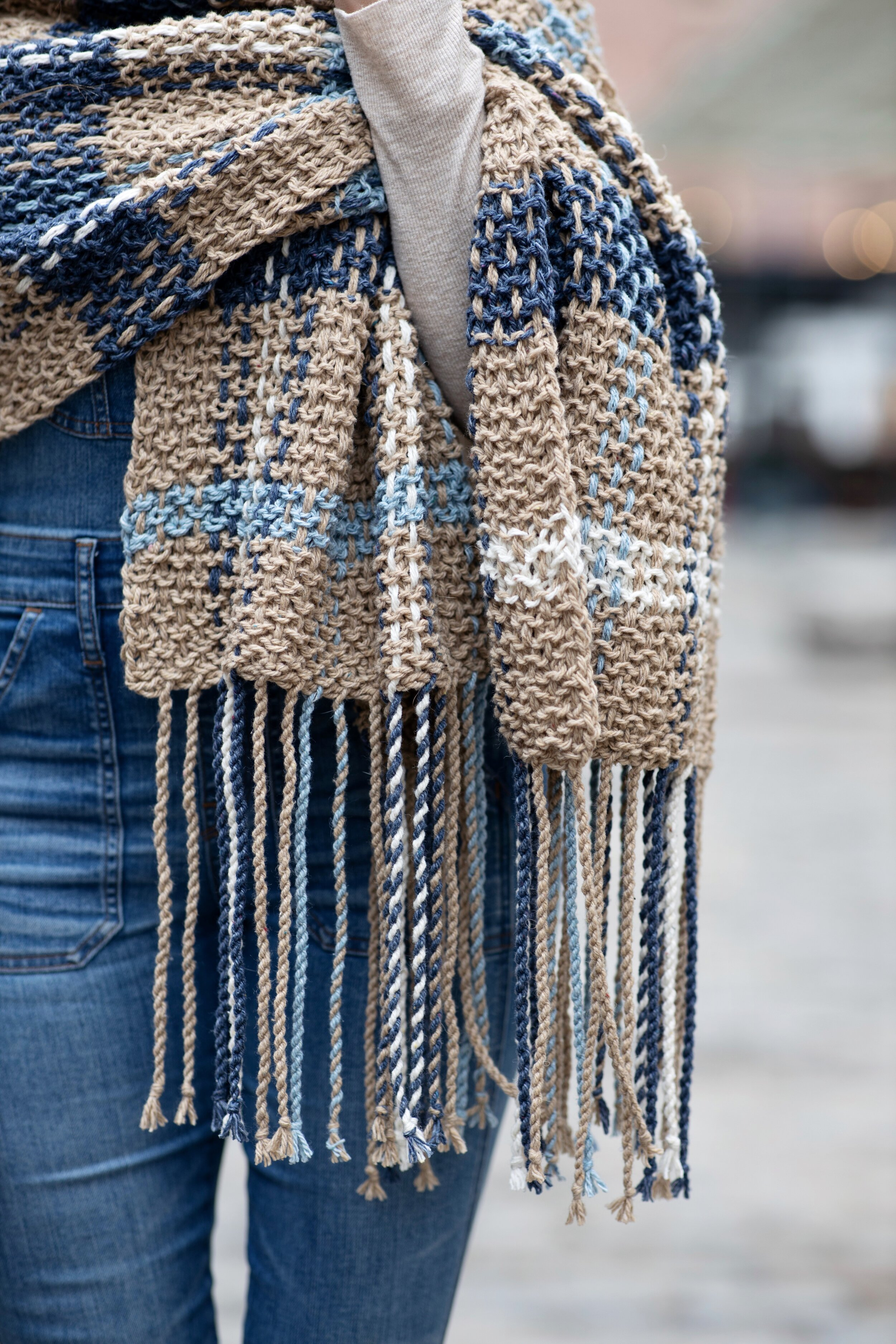 House of Tweed Bleu Layette Thomson Tartan Luxury Blanket Scarf