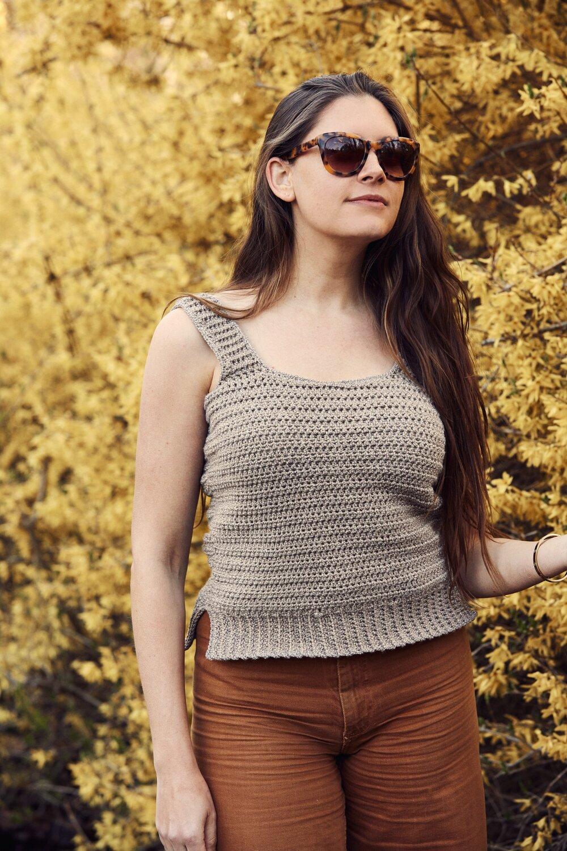 Milla Crochet Tank pattern by Two of Wands