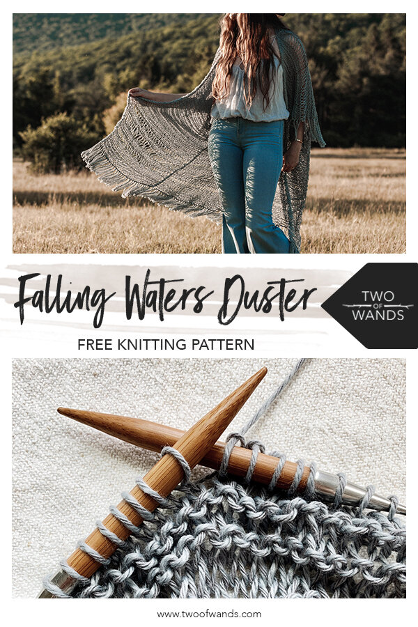 Falling Waters Duster Pattern by Two of Wands