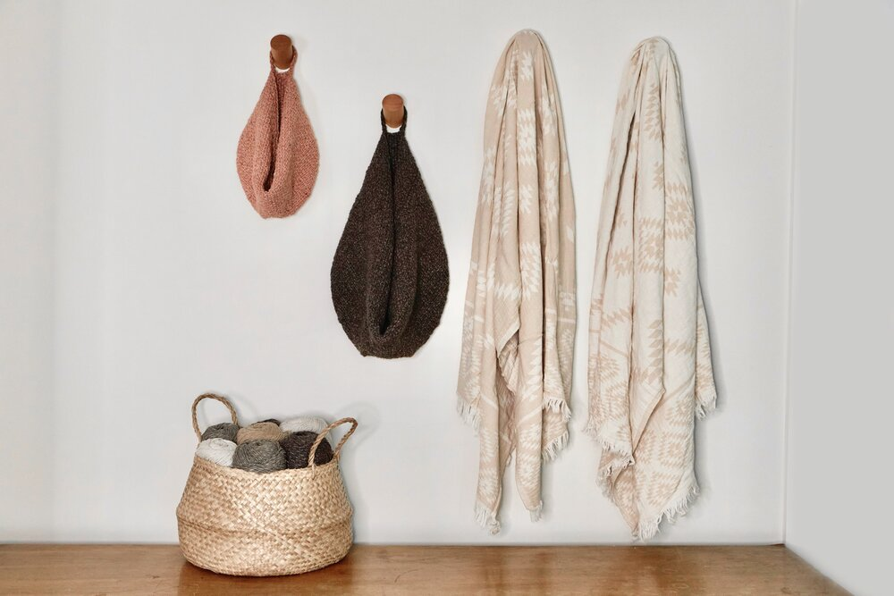 Knit Slouchy Hanging Baskets
