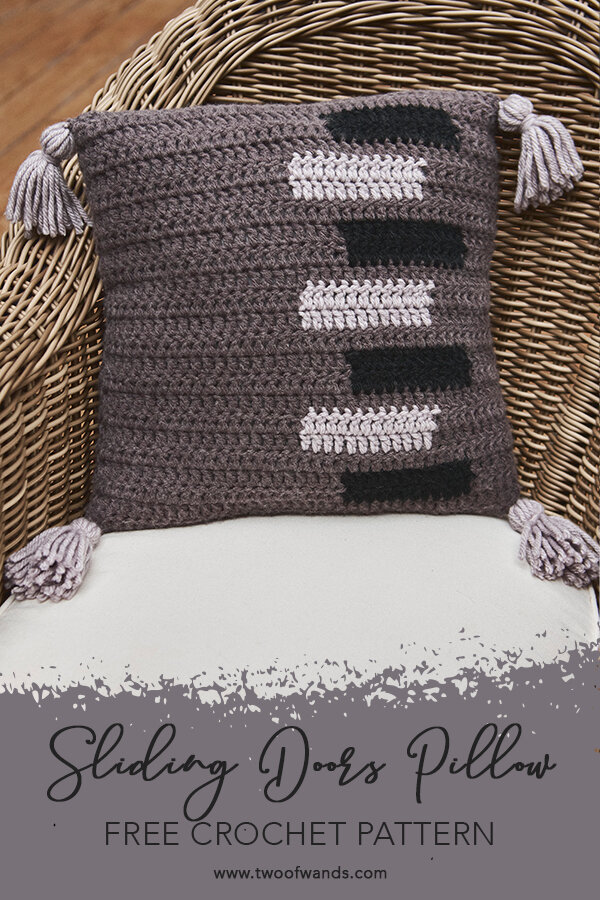 Sliding Doors Throw Pillow pattern by Two of Wands