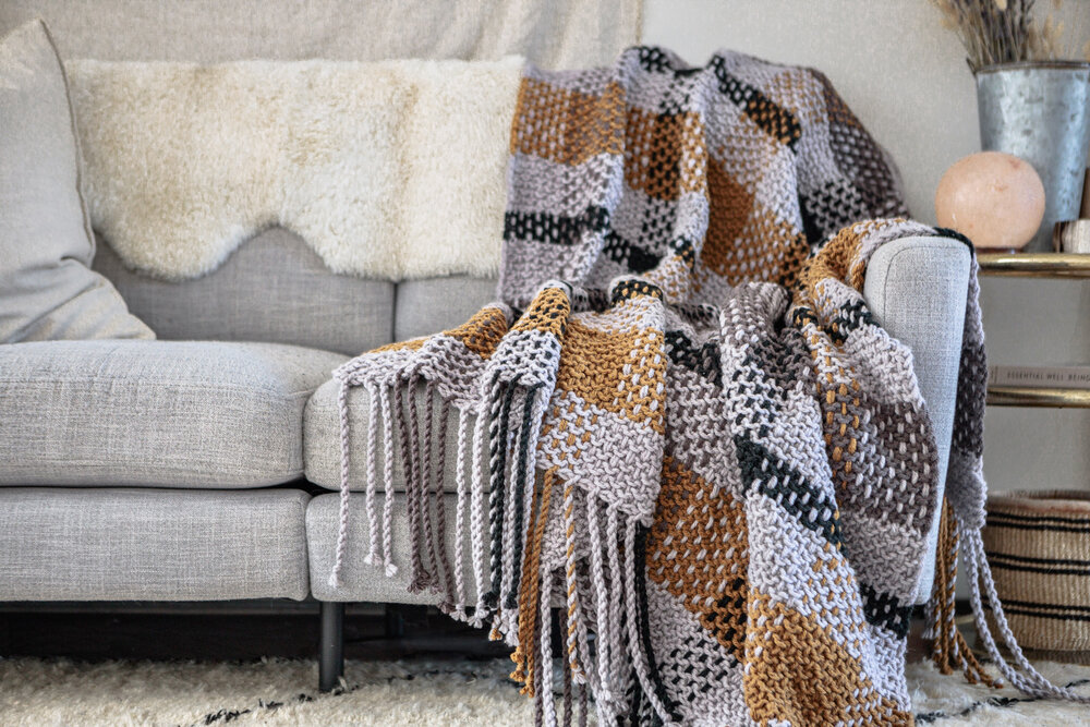 Moonstone Plaid Blanket