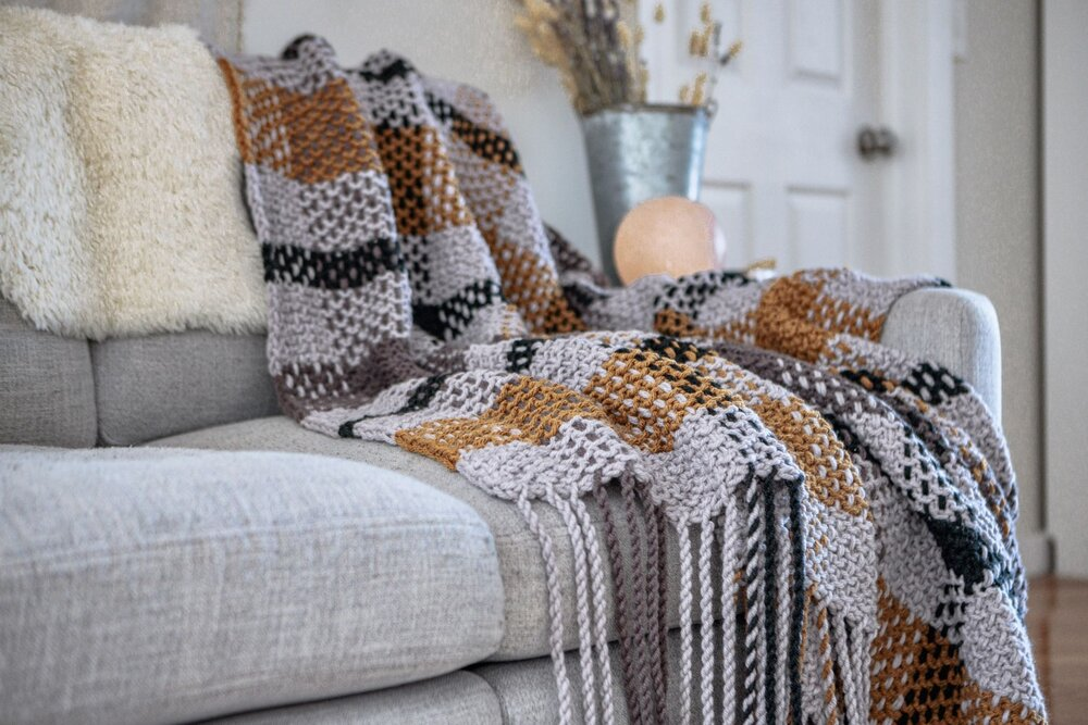 Moonstone Plaid Blanket Pattern by Two of Wands