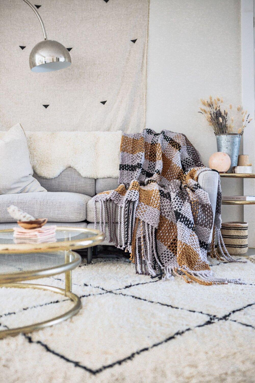Moonstone Plaid Blanket Pattern