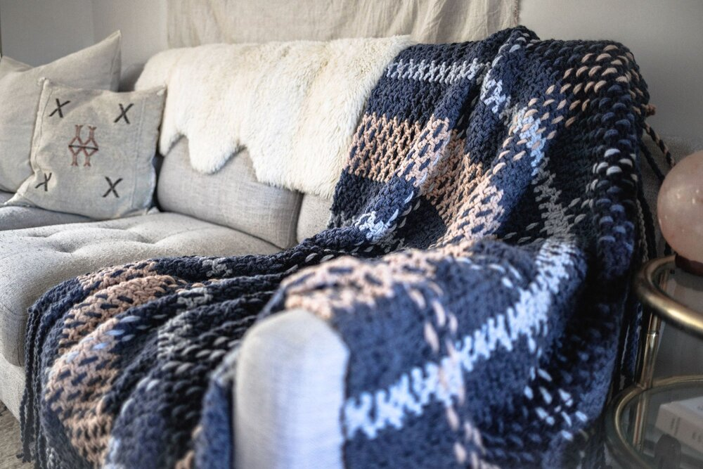 Wildwood Plaid Blanket Pattern by Two of Wands