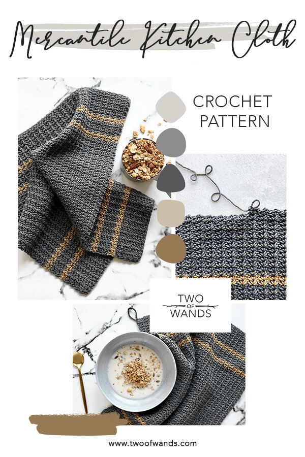 Mercantile Kitchen Cloth Pattern by Two of Wands