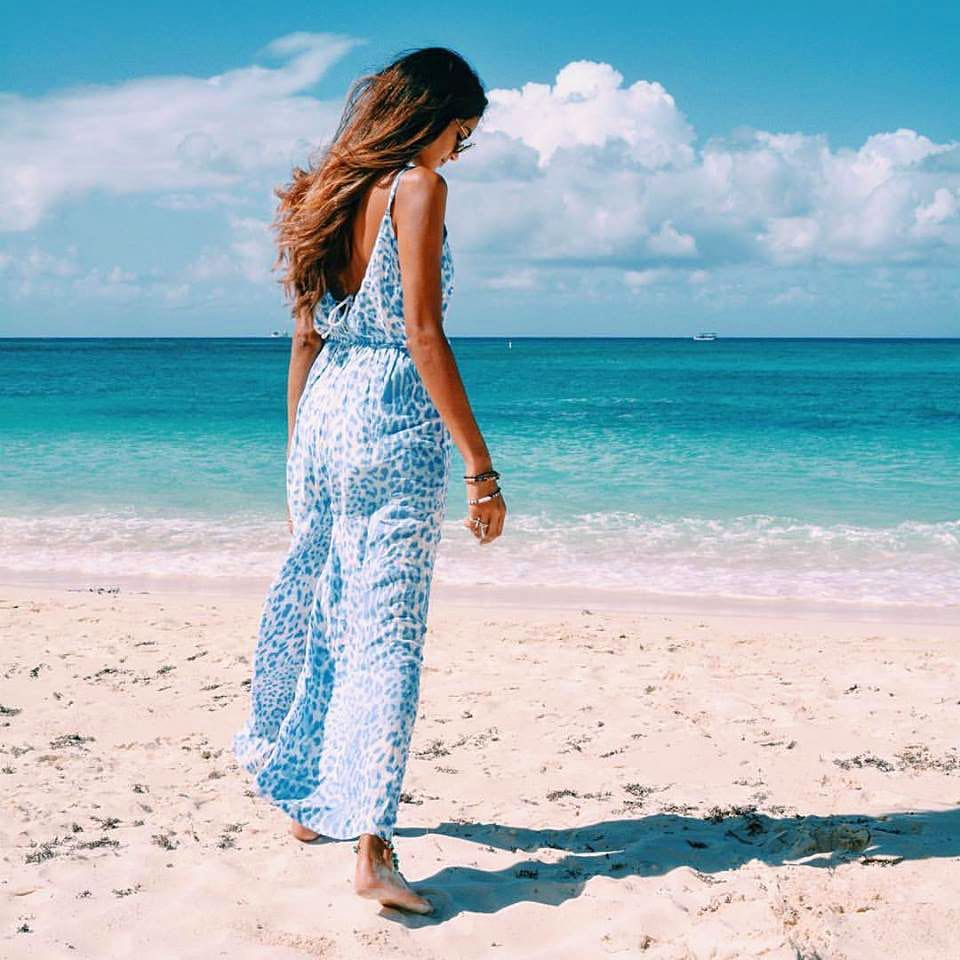 A flowing Maxi summer dress is a beach holiday essential