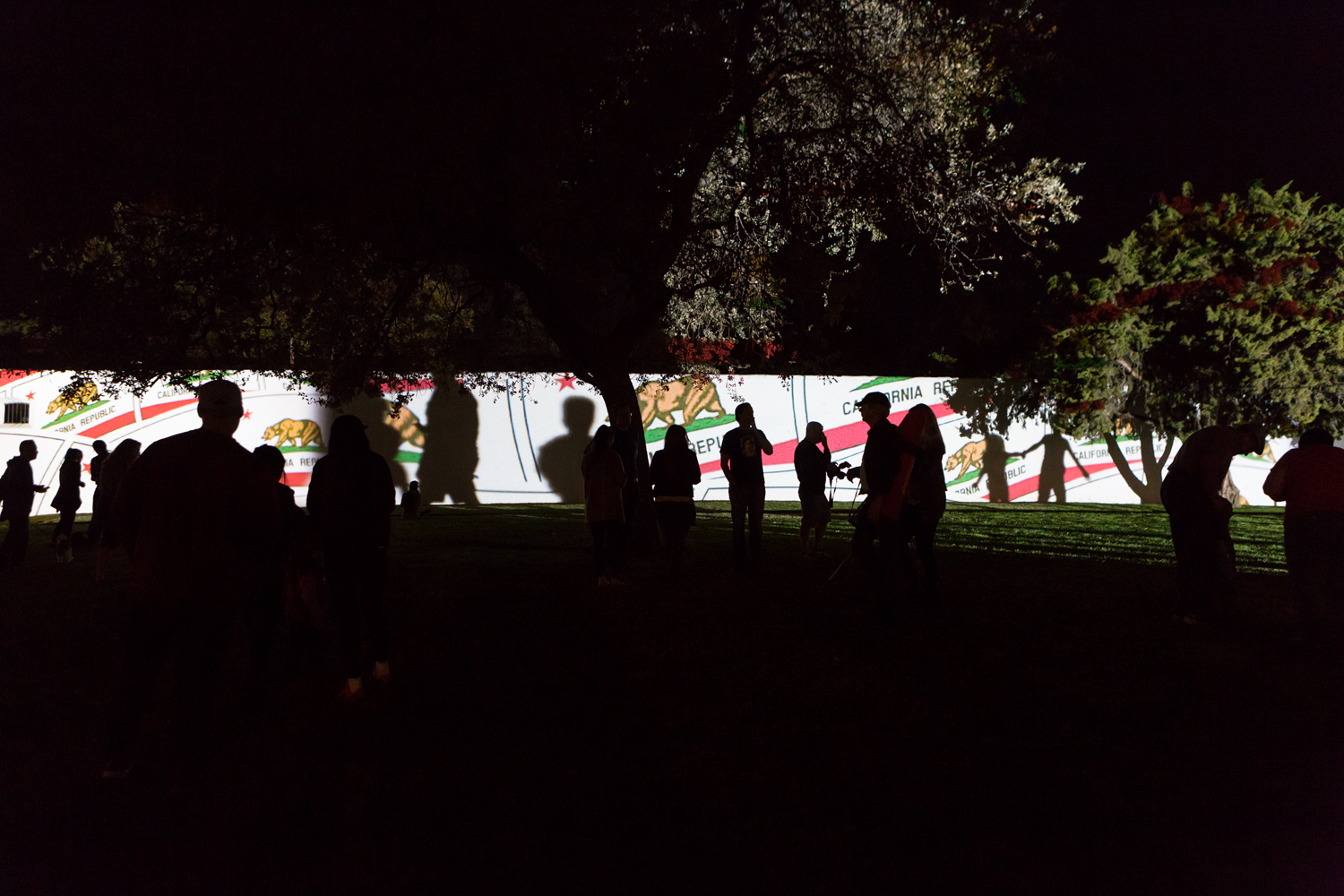 Light Show at Sutter's Fort by Swiss Artist Gerry Hofstetter