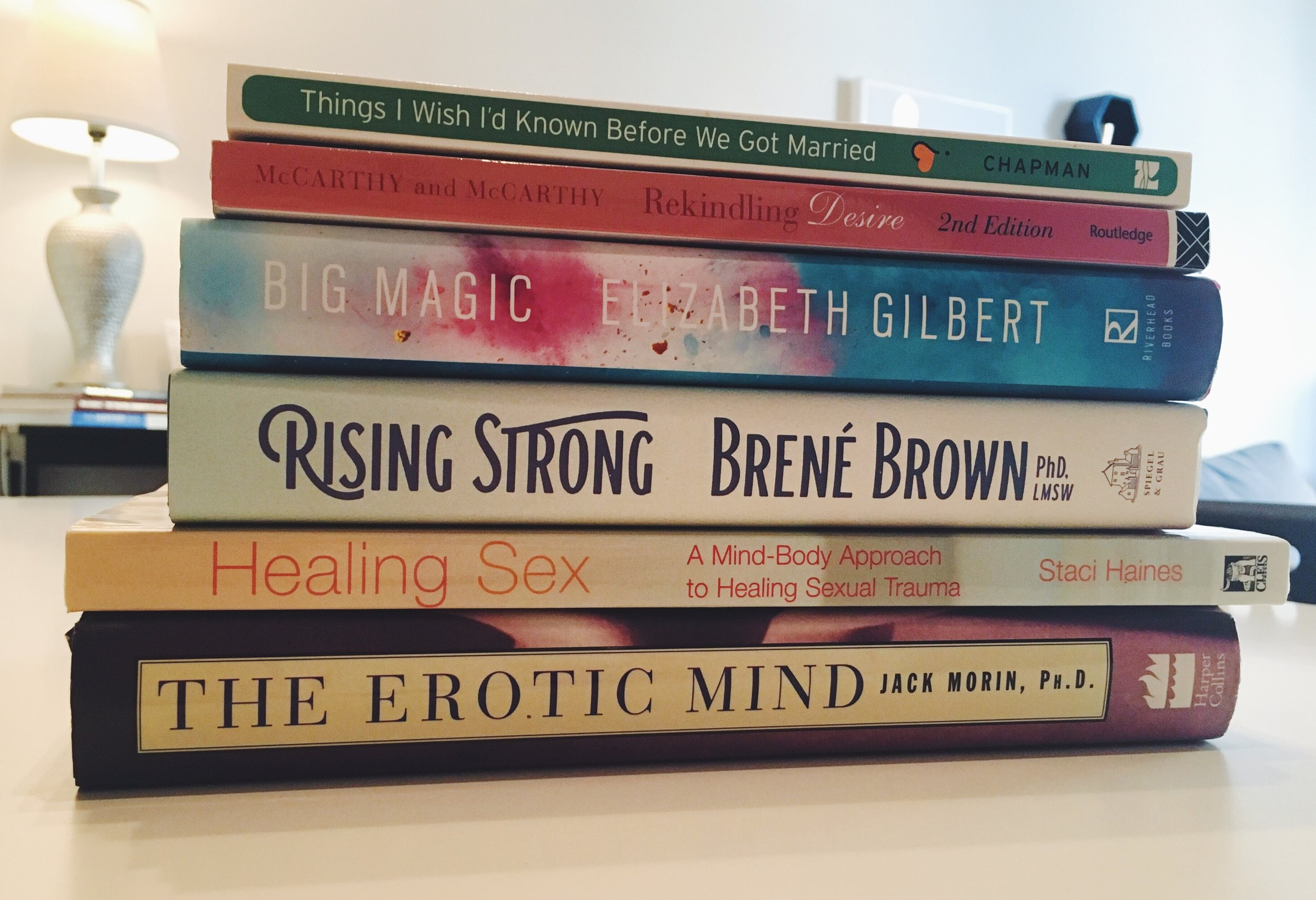 Erotic Mind, Healing Sex, Rising Strong, Big Magic, Things I Wish I'd Known Before We Got Married, Rekindling Desire _ Andrea Battiola Couples and Sex Therapy