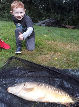Arthur Hare and his 6lbs Mirror Carp