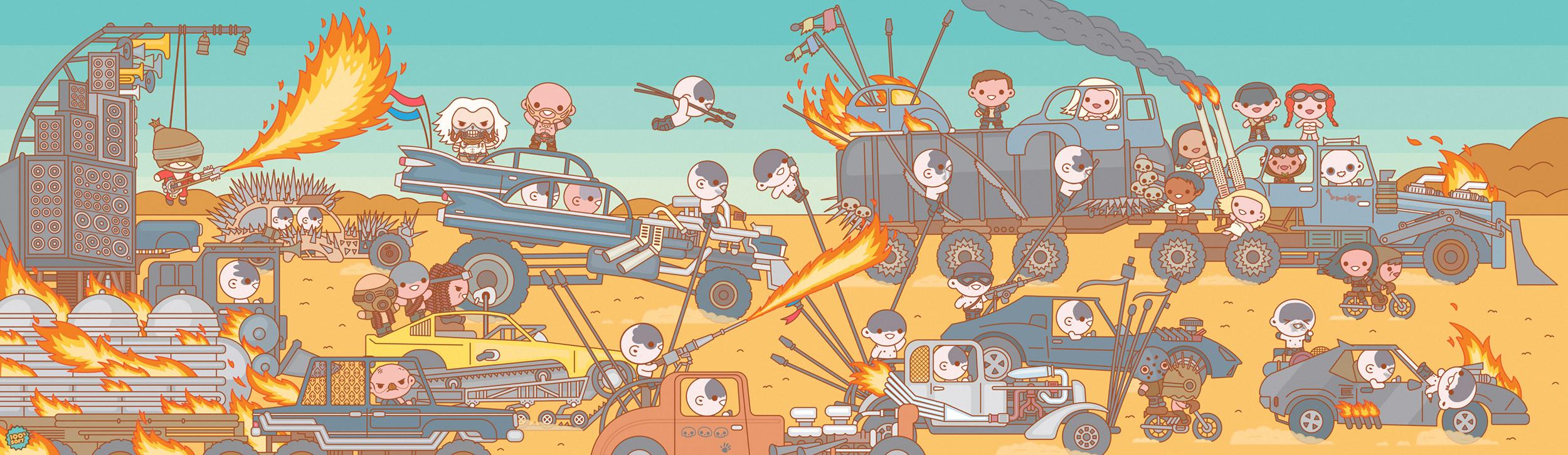 "Mad Max: Fury Road. 64x20"""