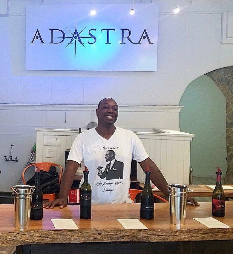 Hunter the night before opening Adastra Wines in May of this year.