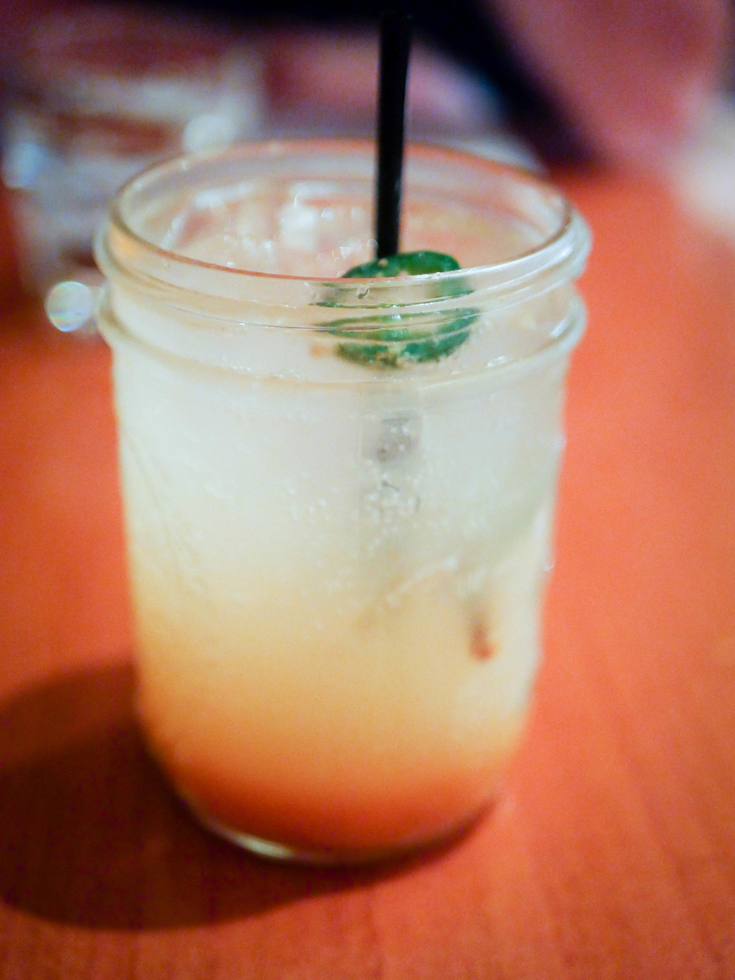 Spiced persimmon jalapeno soda from Luna Red in San Luis Obispo.