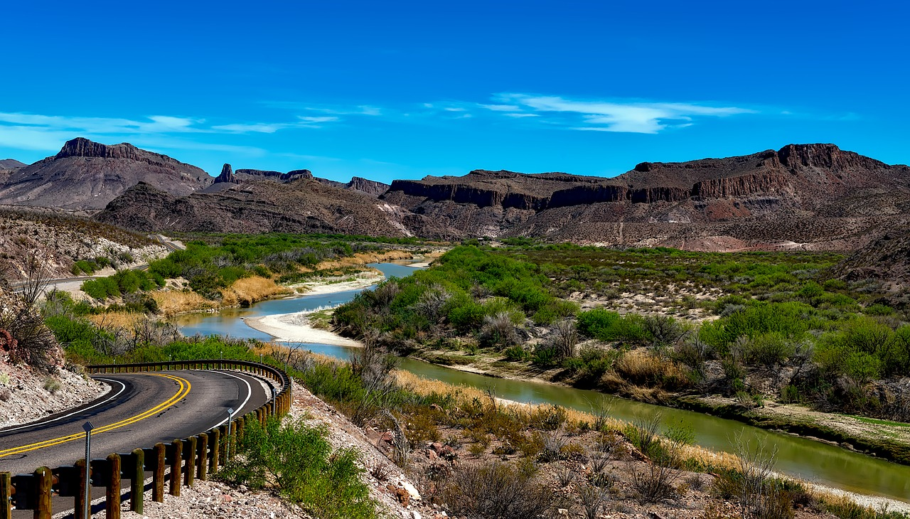 Big Bend National Park near the border of Texas and Mexico.