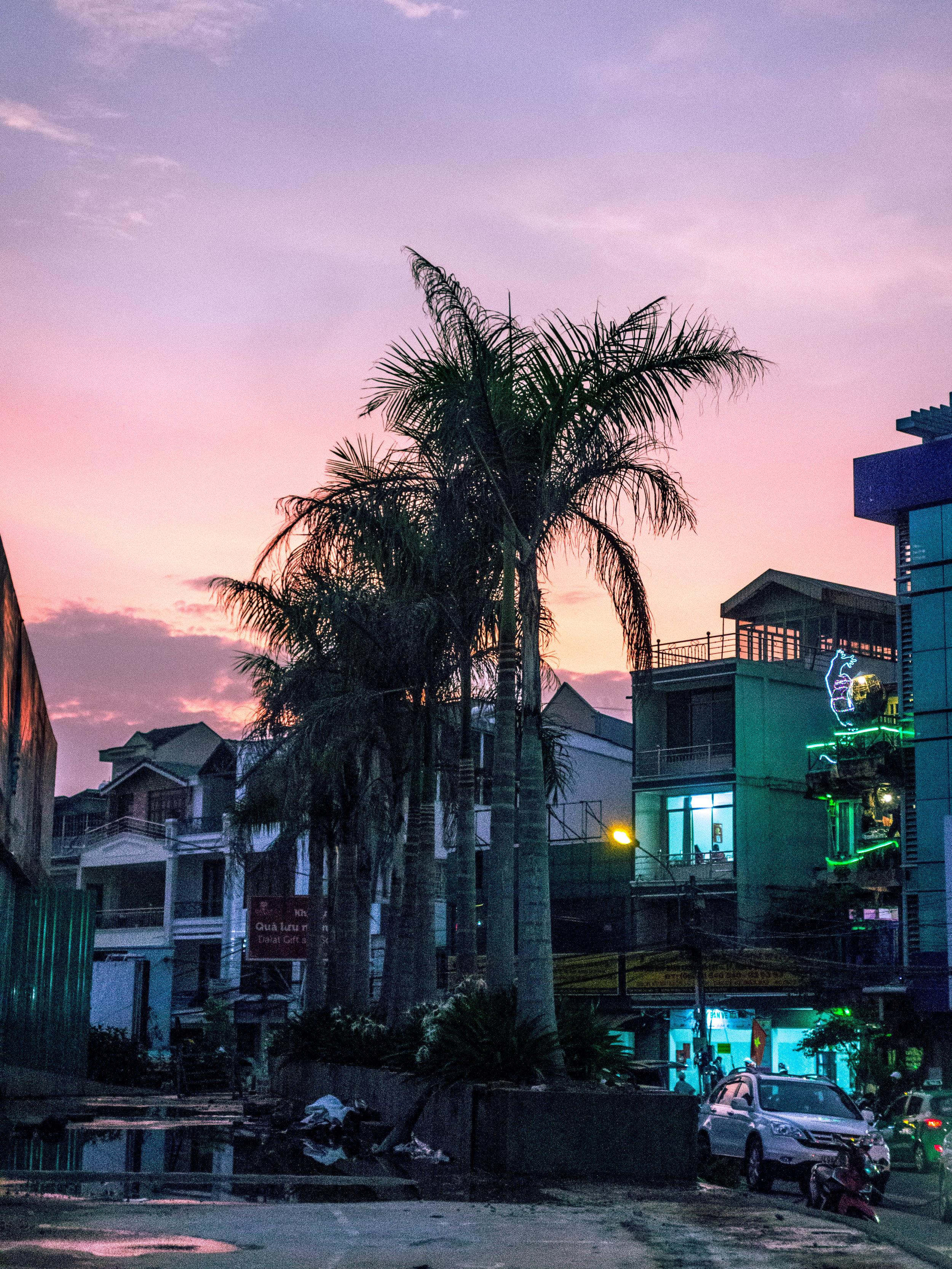 Sunset in Da Lat, Vietnam