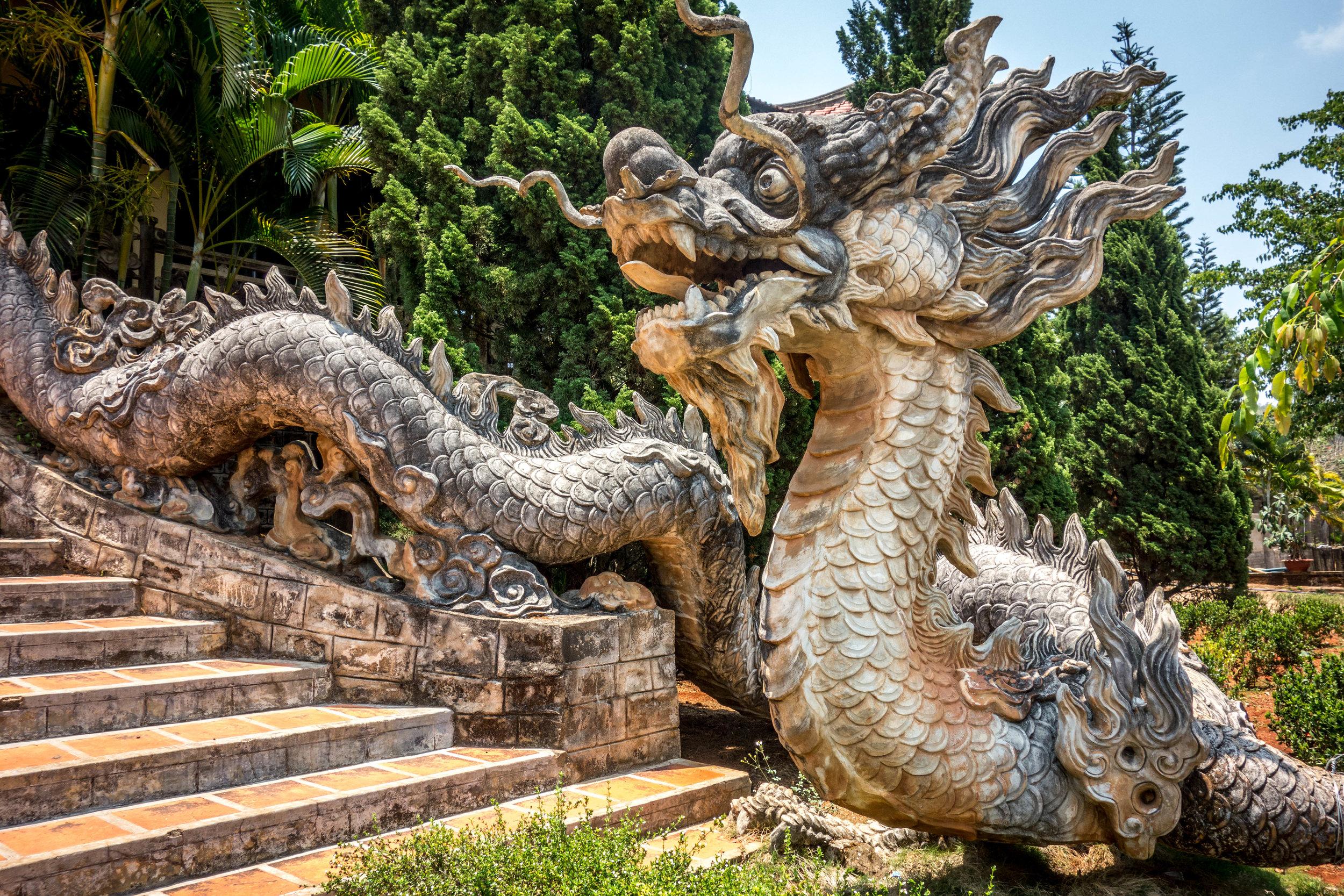 Buddhist temple outside of Da Lat, Vietnam