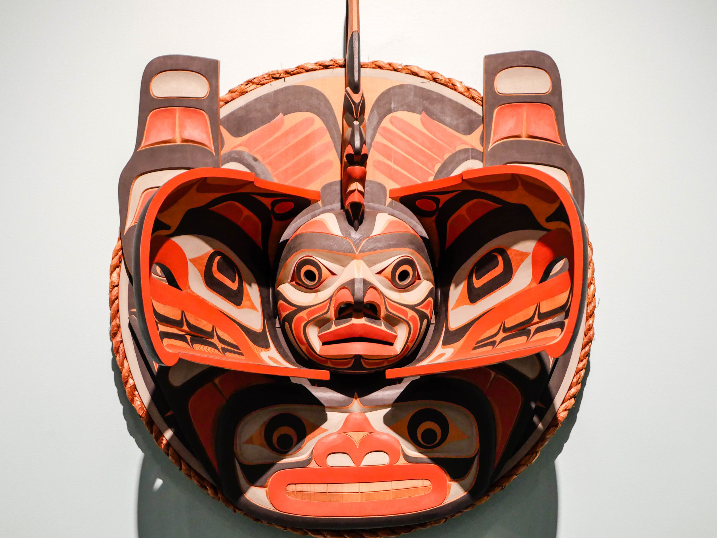 This mask opened up when you walked past it. Again, should have written down the name of the artist.