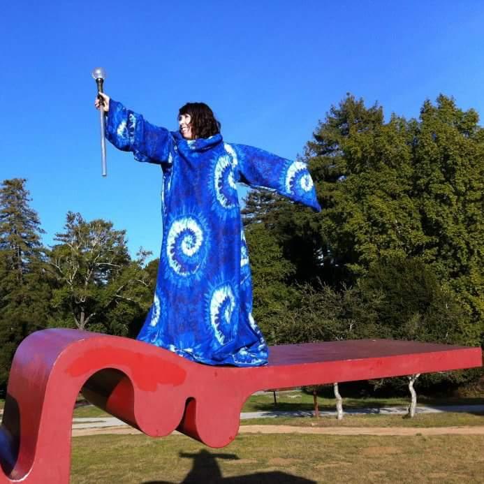Wizarding atop the iconic Porter Squiggle at UC Santa Cruz