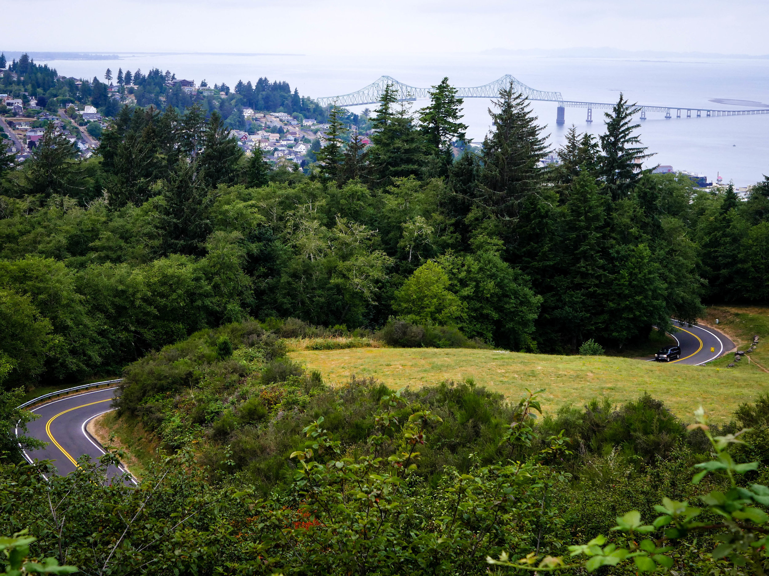 The view of Astoria from the Astoria Column