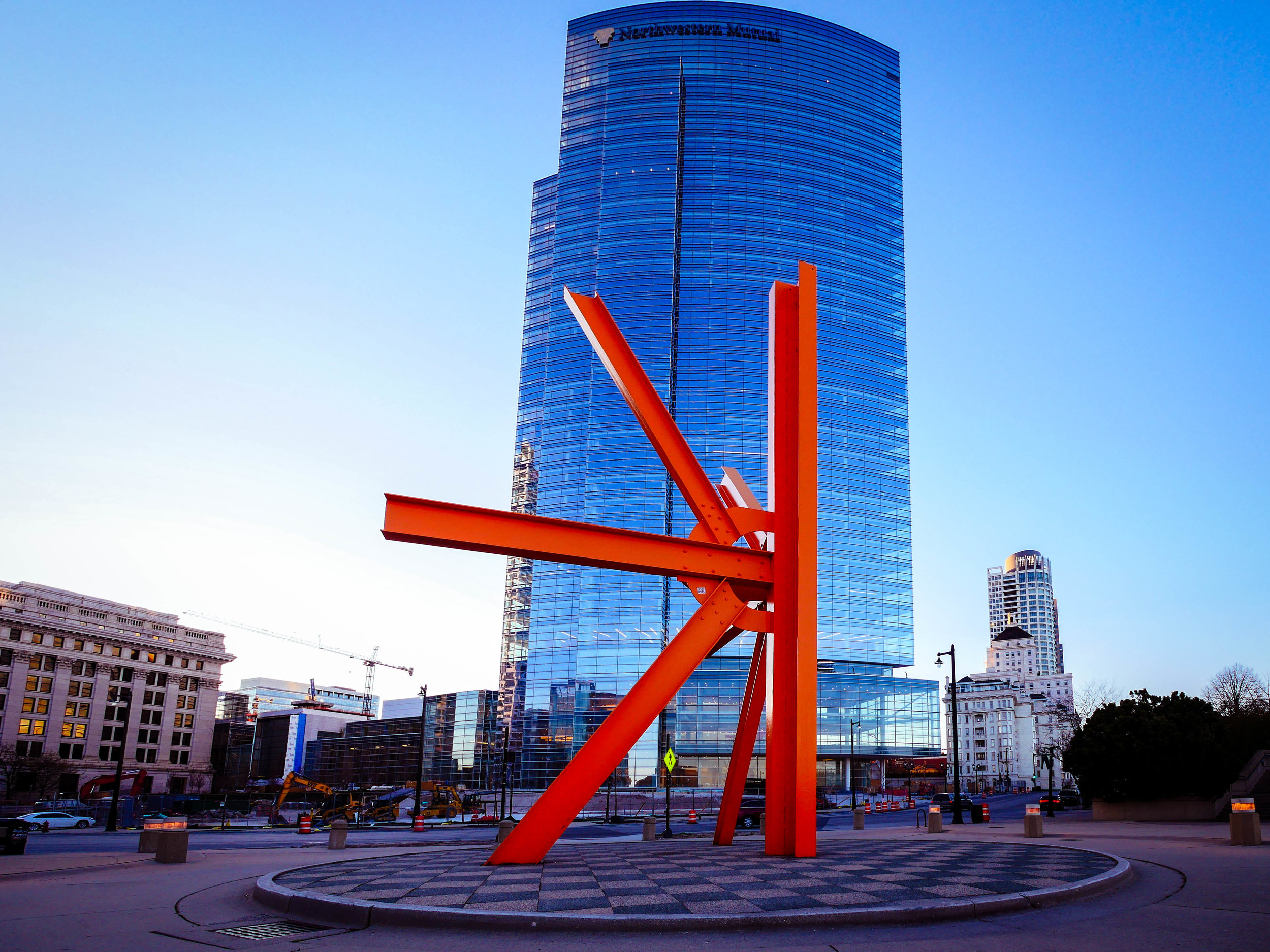 """The controversial """"The Calling"""" by Shane McAdams in downtown Milwaukee."""