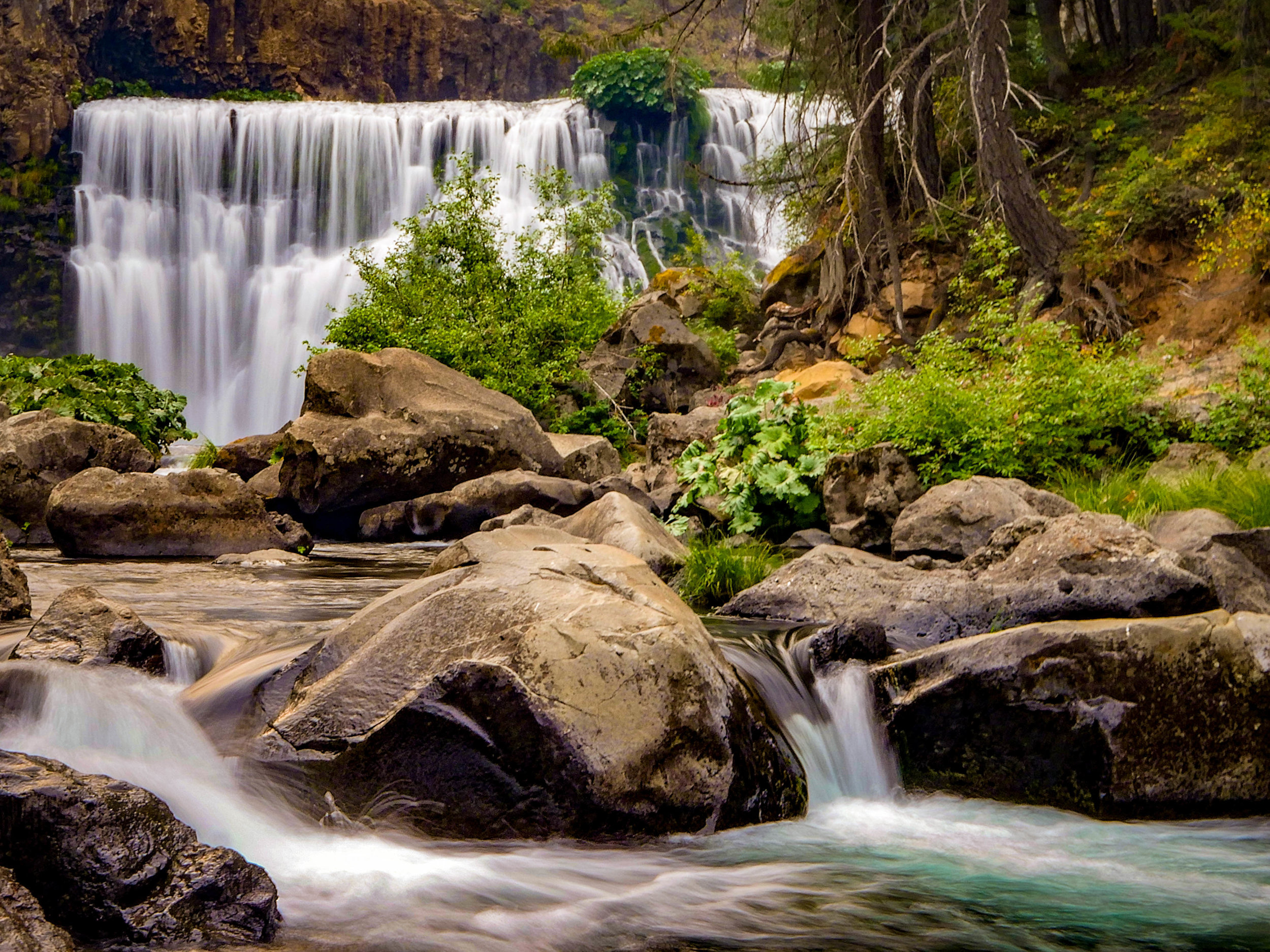 Middle Falls at McCloud Falls near Mt. Shasta