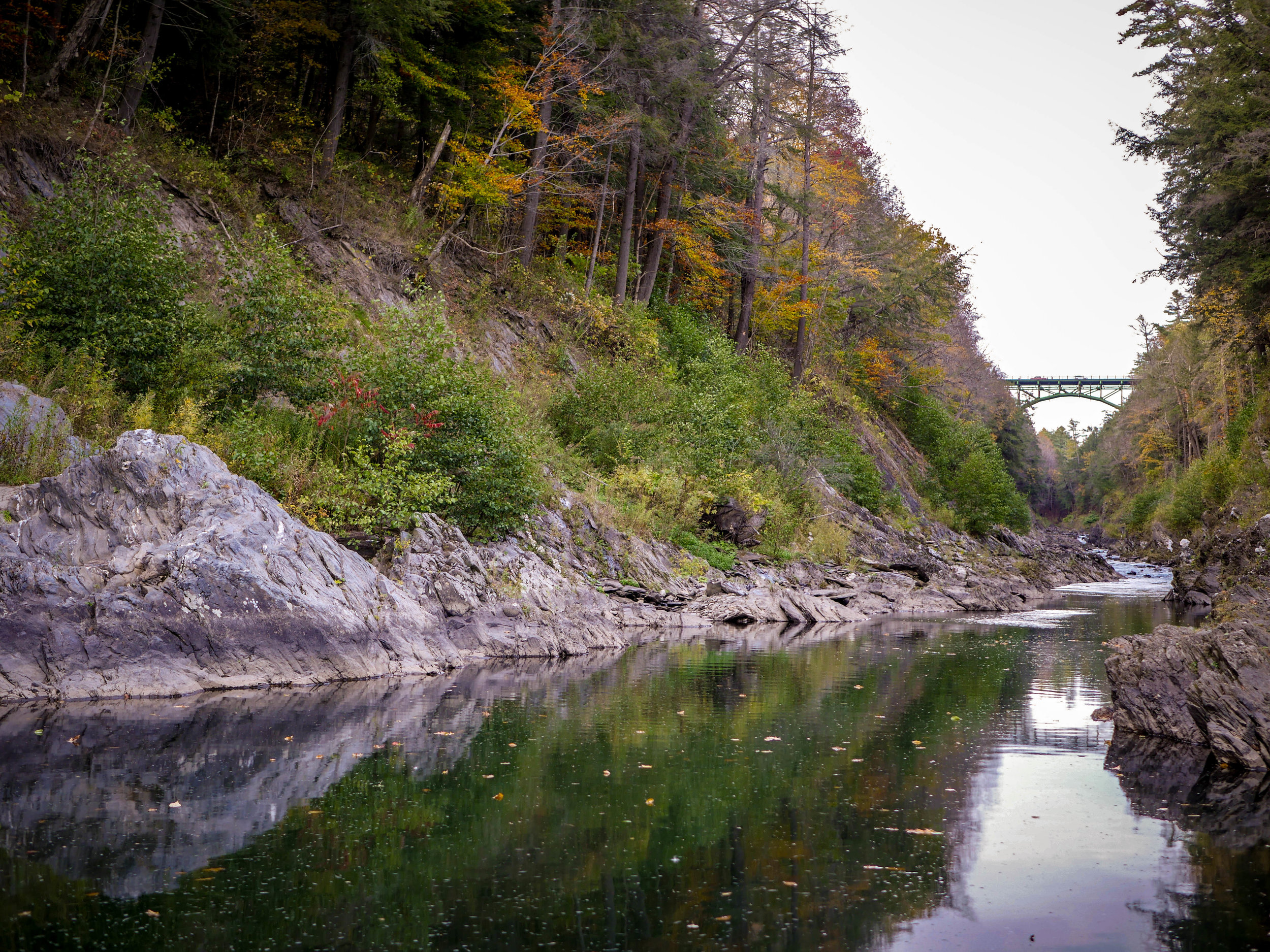 The Quechee Gorge in Vermont.