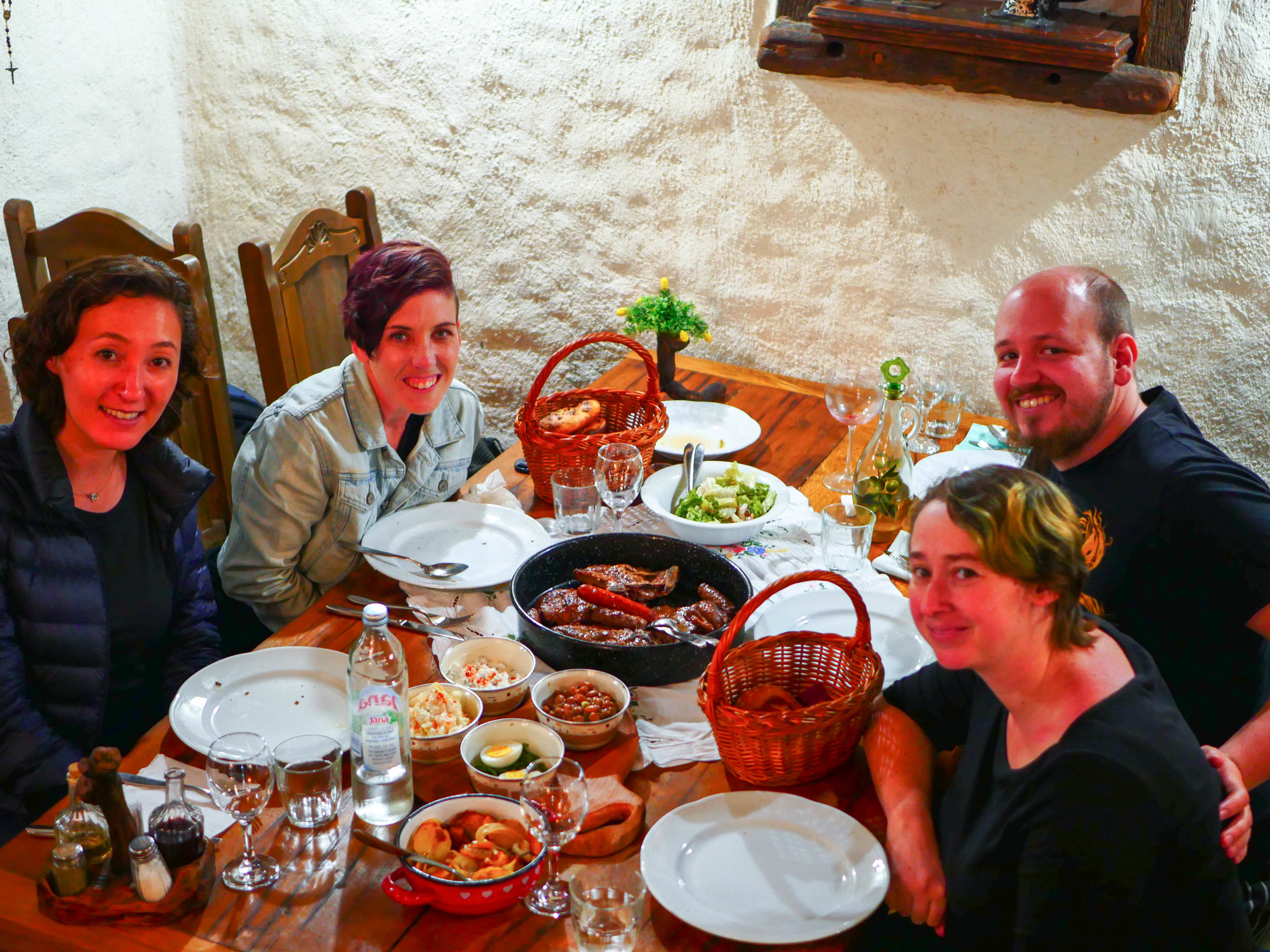 The four of us enjoying an amazing meal at Roca Estate in Croatia. Something I would have never done alone.
