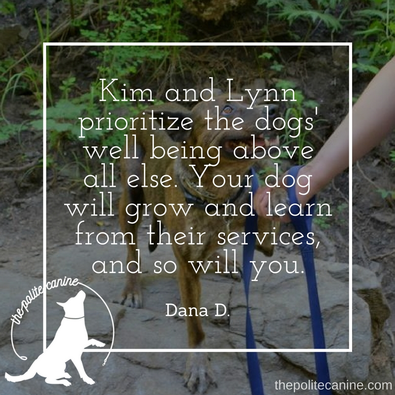 Kim and Lynn prioritize the dogs' well being above all else. Your dog will grow and learn from their services, and so will you. (1).jpg