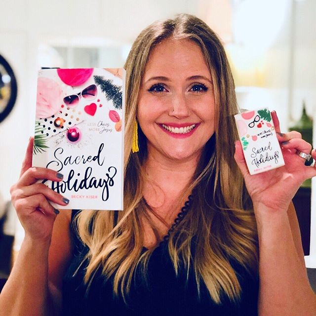 Doing a giveaway on my personal account!! Go check it out and enter to win today 👉🏼👉🏼👉🏼 @beckykiser (Author of #sacredholidays)