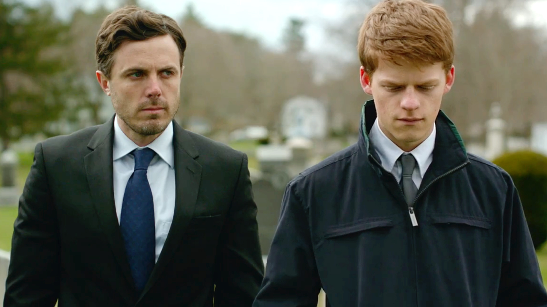 Casey Affleck and Lucas Hodges in Manchester By The Sea
