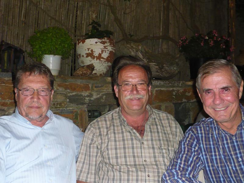 Luigi Ballerini, Deputy Mayor Stamatis Simos and Peter Fasseas