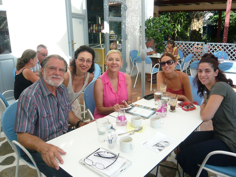 Meeting the Mayor of Amorgos