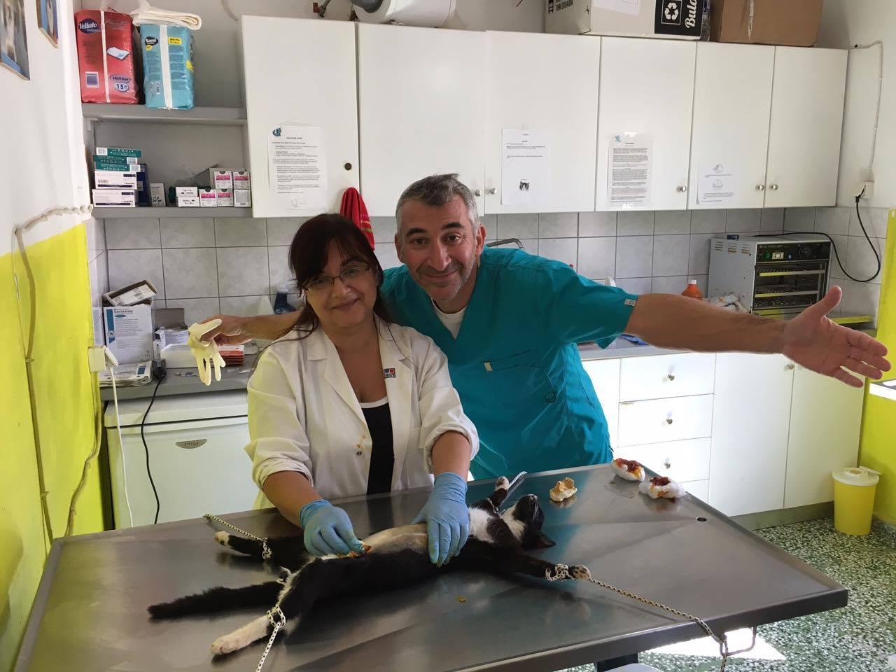 Dr. Vorisis with his helper Hariklia Psaki.