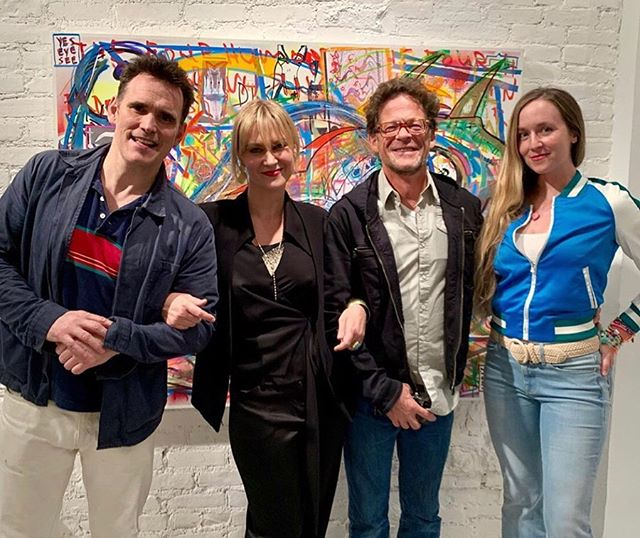 "Last month at ""think in pictures,"" curated by my favorite @amelchenkoart  such a beautiful show; I look forward to their future endeavors💕 @amelchenkoart @mattdillon @newsomstudio"