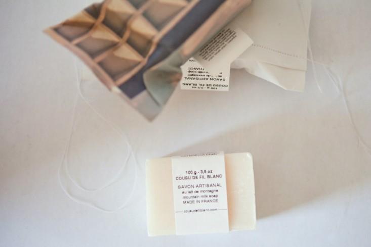 Cousu de Fil Blanc soap, from  Spartan