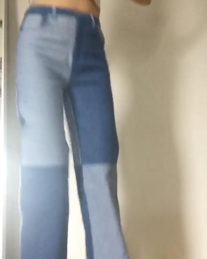 Anna dancing in new pants, via Instagram