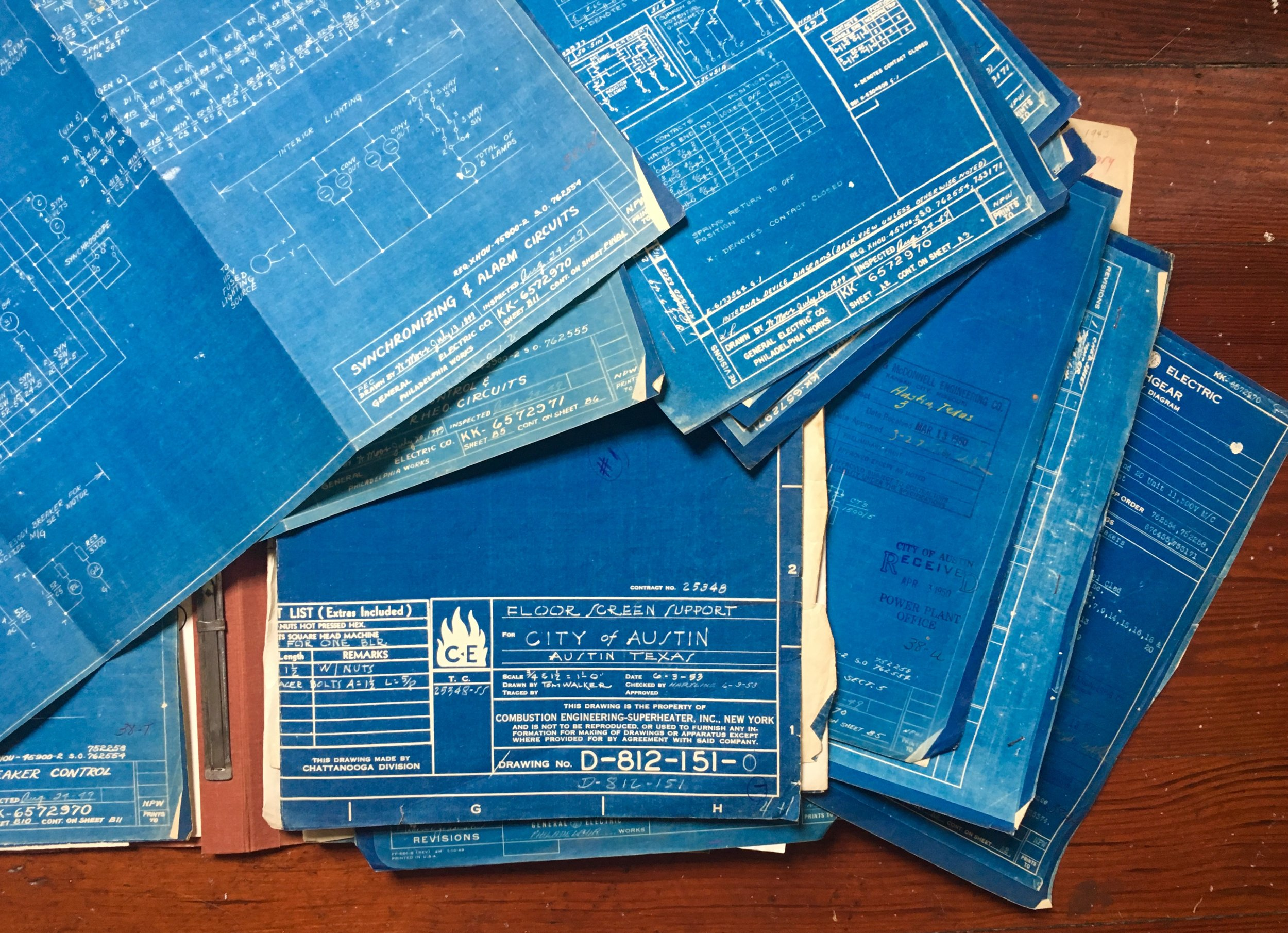 old blueprints