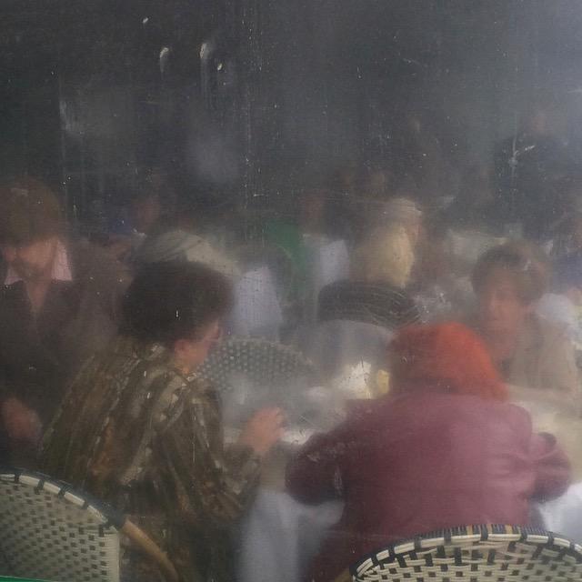 People watching in Brighton Beach