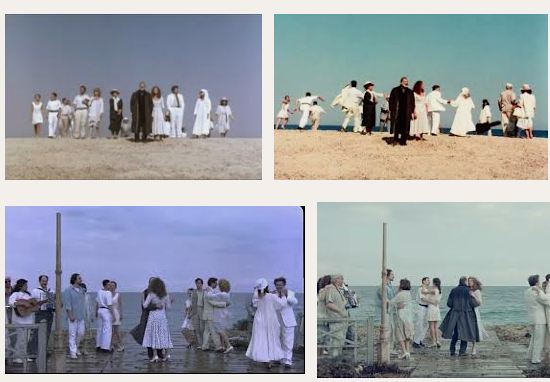 Screenshot of several images of Eternity and a Day by Theo Angelopoulos, 1998