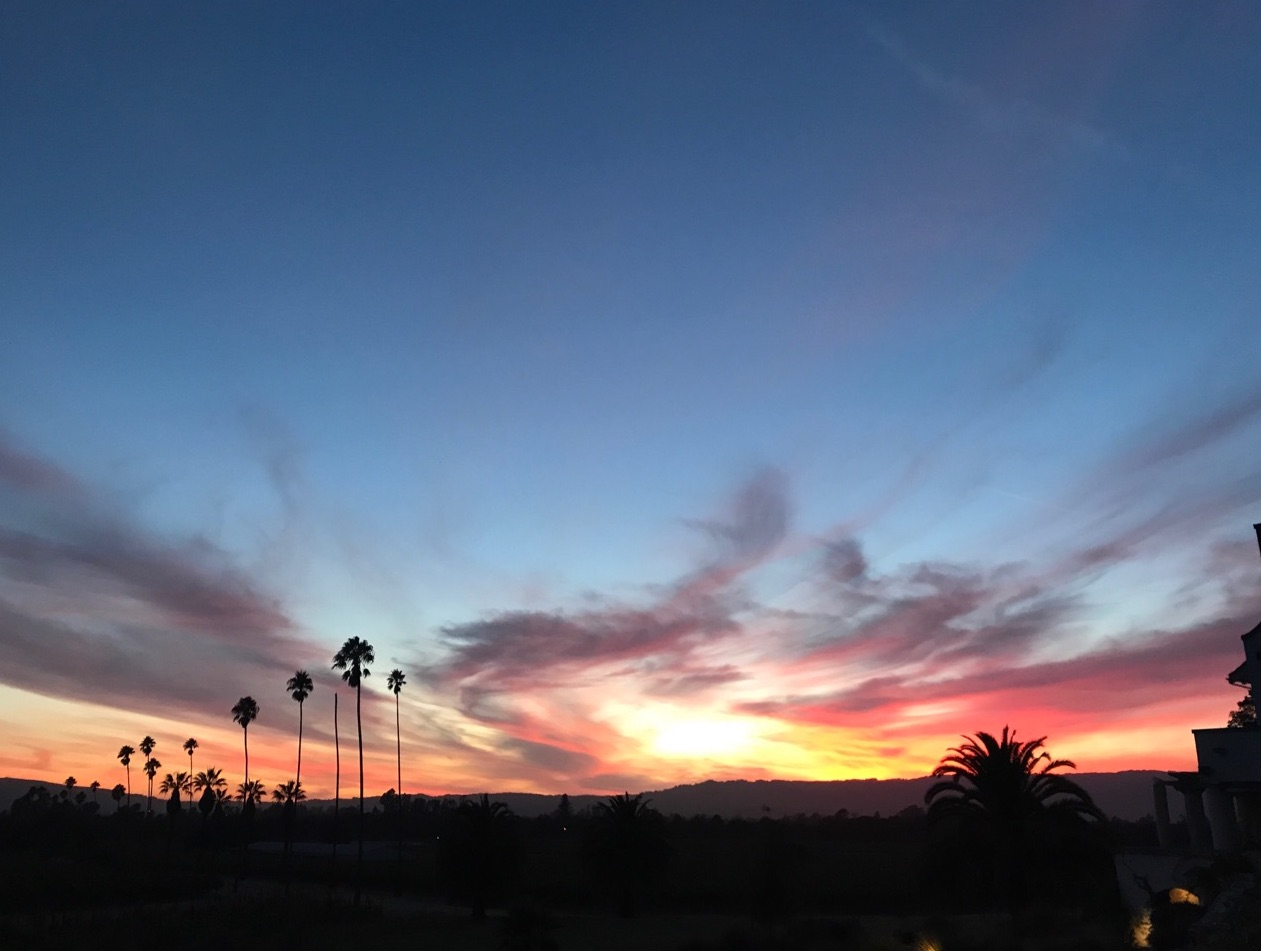 sunset in Sonoma