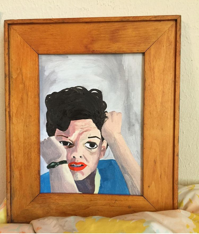 Portrait of Judy Garland by Silky Shoemaker