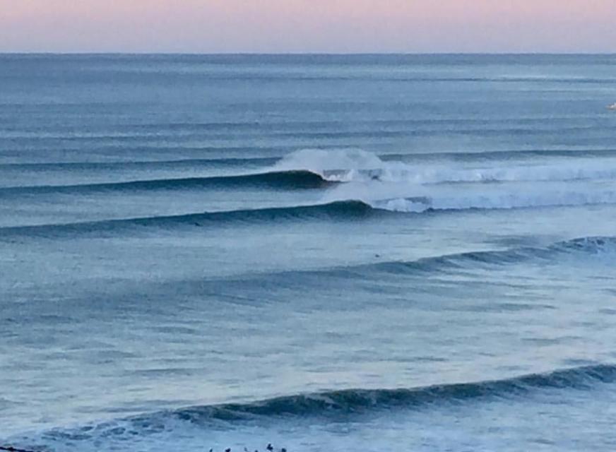 Winter swell, via Kate's Instagram