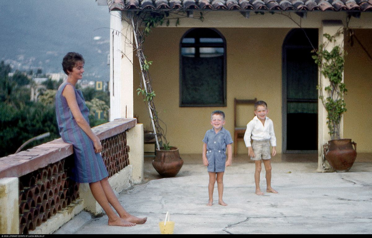 Lucia Berlin with her sons Jeff and Mark in Acapulco, circa 1961