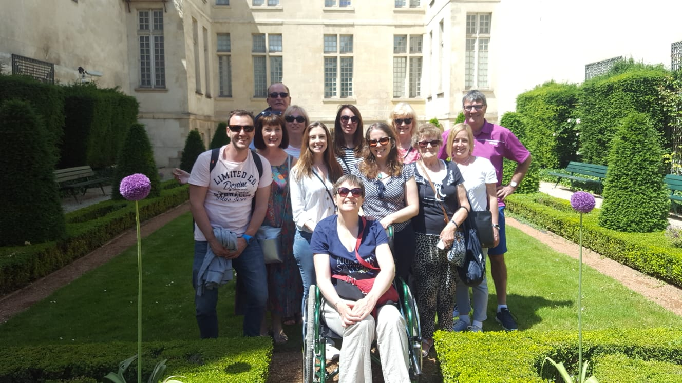 This group photo was taken in the beautiful Marais neighbourhood.