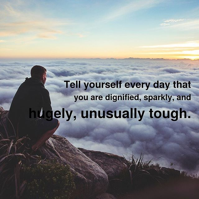 True.  So sparkly and tough am I.  #sparklytough #inspirobot