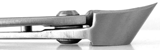 Concave pruner side view