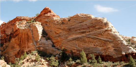 Angles – The sandstone in Zion often looks like God just smashed a bunch of rocks together.