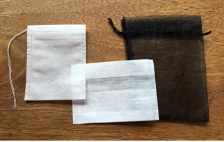Synthetic Drawstring Tea Bag, Folding Tea Bag, Sachet Bag